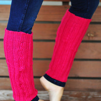 Nice And Cozy Leg Warmers: Hot Pink | Hope's
