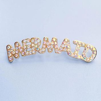 Mermaid Rhinestone Pin