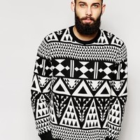Only & Sons Knitted Jumper With All Over Jacquard
