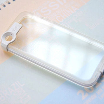 White Light Up Case Cover for iPhone 5s 6 6s Plus with Data Line Gift 231