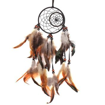 dream catcher Net hanging with Feathers multicolor Hanging Decoration Dreamcatcher Net India Style House Decoration