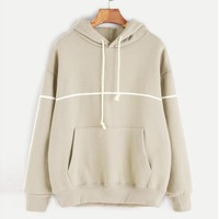 Women Hoodies Sweatshirts Pocket Loose Long Sleeve Toyouth Women Sweatshirt Casual Pullovers Felpa Donna#A12