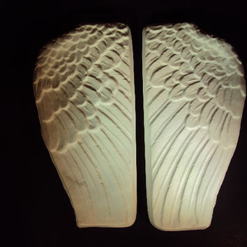 Angel Wings, HALF OFF COUPON,  Angel Wing Wall Decor,  Wings Wall Decor, Pair, Angels Are User Friendly