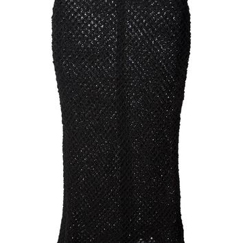 Isabel Marant Étoile Fitted Grid Knit Skirt