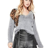Leopard Intarsia Sweater at Guess