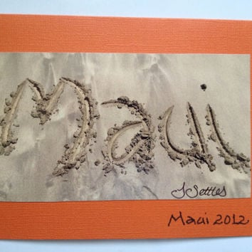 Maui Sand Photograph Greeting Card