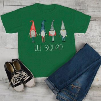 Kids Elf Squad Shirt Christmas Shirts Elf Outfit Idea Nordic Elves Shirt Hand Illustrated Graphic Tee Boy's Girl's Toddler