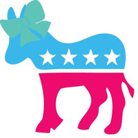 5in Cute Democrat Car Decal