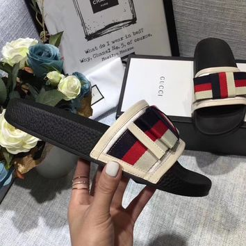 shosouvenir  Gucci Spring and summer ladies classic all-match slippers