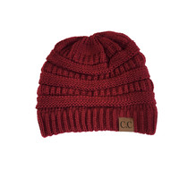 Comfort Me Knit Beanie in Burgundy