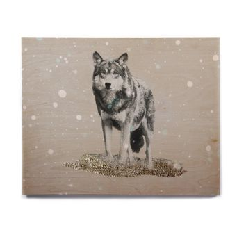 "Monika Strigel ""Wolf"" Birchwood Wall Art"