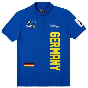 Club Foreign German Series Men Polo Shirt Blue