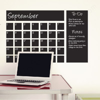 Chalkboard Calendar wall decal
