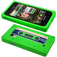 Cbus Wireless brand Green/Blue Silicone Cassette Tape Case / Skin / Cover for Samsung Fascinate / Mesmerize / SCH-I500
