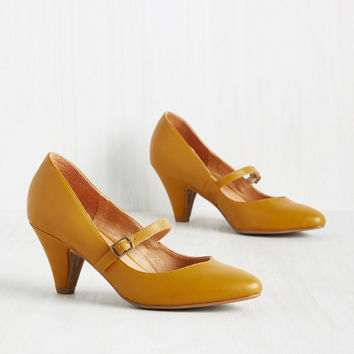 Reserved for Rollicking Heel in Dijon | Mod Retro Vintage Heels | ModCloth.com