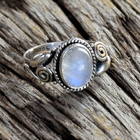 moonstone ring, moon stone silver ring, silver ring, silver rainbow ring, stone ring, 92.5 sterling silver, moon stone Silver Ring, RNSLMN2