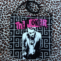 THE JOKER - Upcycled Rock T-Shirt Sling Tote - ooak