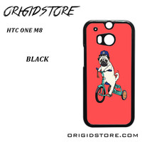 Pug Bicycle For HTC One M8 Case Please Make Sure Your Device With Message Case UY