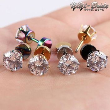 1pcs 3 7mm Zircon Ear Piercing Unique Design Gold Stainless Steel Twist Nose Lip Ring Nose Stud Body Piercing Jewelry For Women