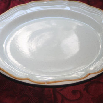 Vintage Mikasa Serving Platter,China Tray,Garden Club design,Chop plate