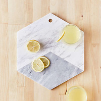 Marble Hexagon Cutting Board | Urban Outfitters