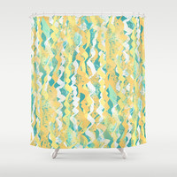 Citrus Rain Shower Curtain by RokinRonda