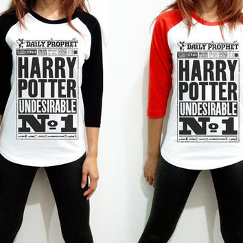 Unisex - The Daily Prophet News Hogwarts Alumni Harry potter Spell Men Women Long Sleeve Baseball Shirt Tshirt Jersey