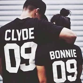 Bonnie Clyde 09, Bonnie Clyde Couples Shirt Set, Matching shirts, Bonnie Clyde shirts, 100% cotton, Best Gift