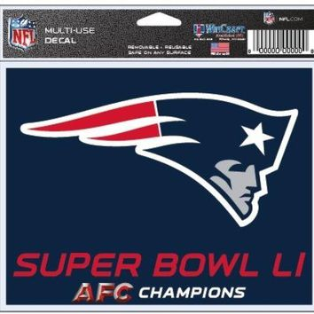 NFL New England Patriots 2017 Super Bowl 51 Multi-Use Decal 4.5 x 6