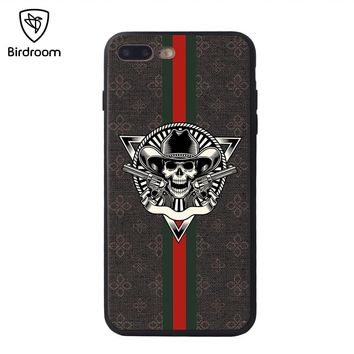Birdroom Case For iPhone 8 7 6 6S Plus Soft TPU Funda Retro 3D Relief Panting Coque For iPhone X 10 Fundas Cover (No Lanyard)