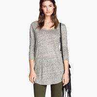 H&M Long Linen Top $24.95