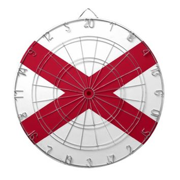 Dartboard with Flag of Alabama
