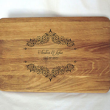 Cutting board wedding gift Personalized Cutting board Custom Engraved cutting board Gifts Housewarming Gift Monogram Valentines Day
