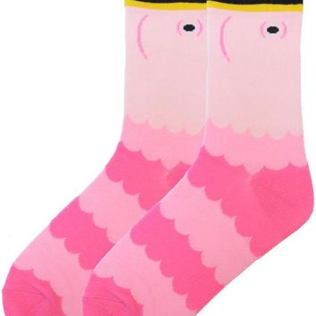 Flamingo Wide Mouth Women's Crew Socks
