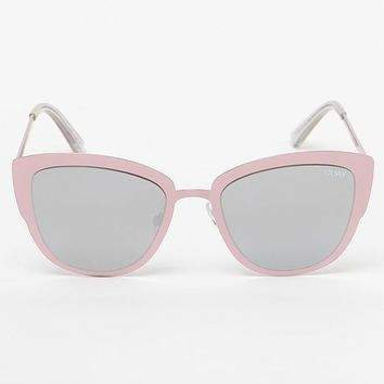 Quay Super Girl Pink & Silver Oversized Sunglasses at PacSun.com