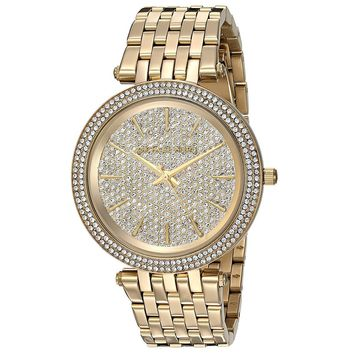 Michael Kors MK3438 Darci Glitz Gold Tone Steel Womens Watch