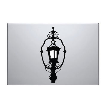 "Lantern Vinyl Decal / Sticker to fit Macbook Pro 13"" 15"" 17"" - Custom sizes available - fun - precision die cut light bulb street lamp light"