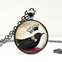 Crow Crown Necklace
