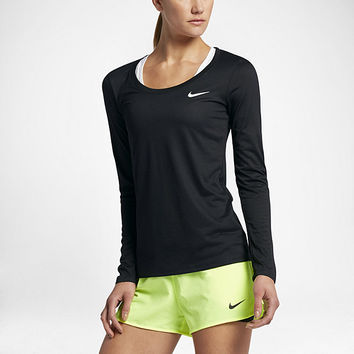 The Nike Dry Women's Long Sleeve Training Top.