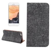 100% Handmade Black Oxford Fabric Leather Wallet iPhone Cases for 5S 6 6S Plus Free Shipping