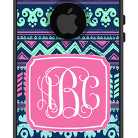 Otterbox Commuter Apple iPhone 5 5s Personalized Cell Phone Case Tribal Hipster Aztec 3 Initial Vine Script Monogram Hard Case OB-1081
