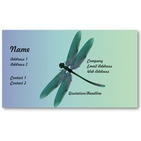 Dragonfly Business Card from Zazzle.com