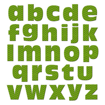 Alphabet Letters Lowercase Chevrons Green Zig Zag MAG-NEATO'S TM Refrigerator Magnet Set
