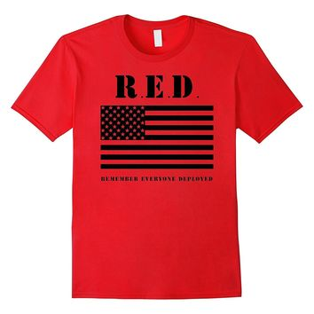 Remember Everyone Deployed Red Friday Army Veteran T-Shirt