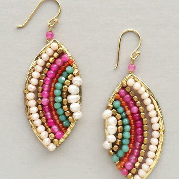 Enchanted Mykonos Earrings - Handmade