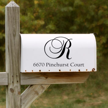 Fancy Mailbox Decal