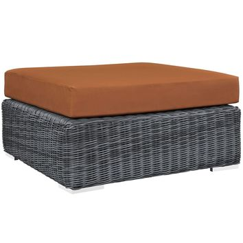 Summon Outdoor Patio Sunbrella Square Ottoman