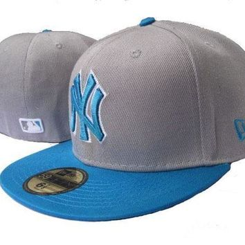 New York Yankees New Era Mlb Authentic Collection 59fifty Cap Blue Grey