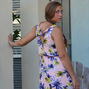 The Pink Palm Tree Dress