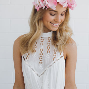 rilla flower crown - soft pink
